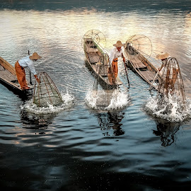 the Three Fishermen.. by Markus Gunawan - People Street & Candids