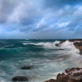 Waterscape at Cozumel by Cristobal Garciaferro Rubio - Landscapes Weather ( clouds, cancun, sky, waterscape, mexico, cozumel, rocks, sea shore )