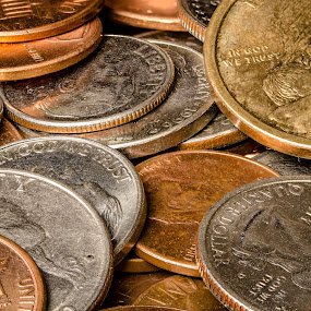 Coins by Eric Bott - Products & Objects Business Objects ( dime, macro, coins, nickel, sacagawea, dollar, penny, golden, currency, quarter )