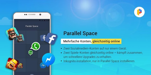 Parallel Space   Mehrfachkonten     Android Apps  Auf Google Play