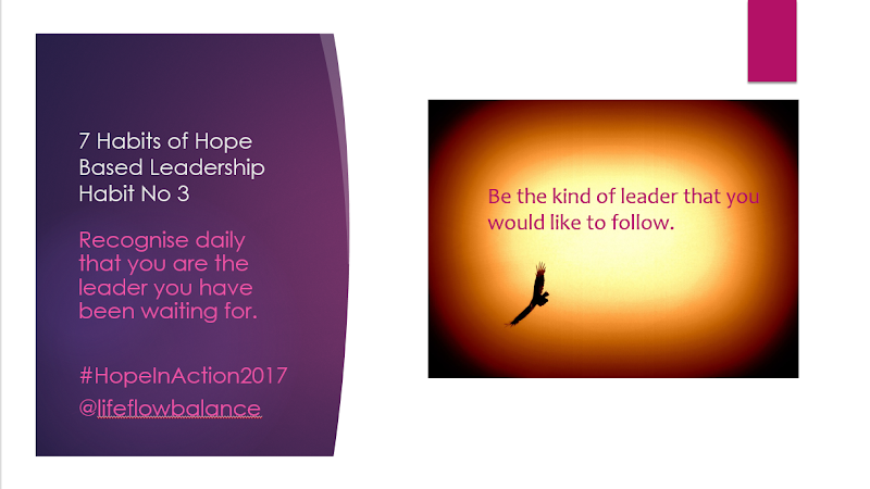 7 habits of Hope Based Self-Leadership. Habit No. 3