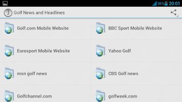 Screenshot of Golf News and Headlines