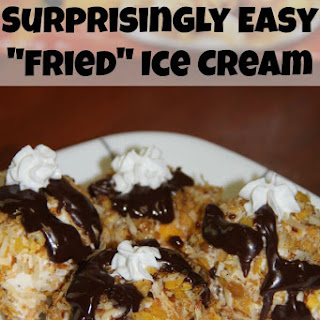"Surprisingly Easy ""Fried"" Ice Cream"