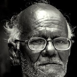A old man by Krishnendu Saha - People Portraits of Men