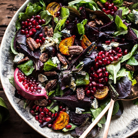 Kale and Roasted Beet Salad with Maple Balsamic Dressing