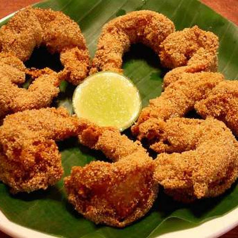 Semolina Fried Prawns