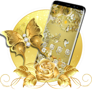 Golden Butterfly  Luxury Launcher the best app – Try on PC Now