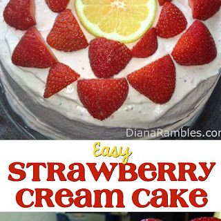 Lemon Ice Cream & Strawberry Cream Cake