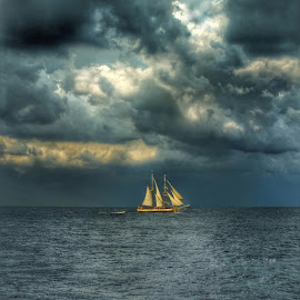 Storm is coming... by Milena Radić - Landscapes Cloud Formations ( #storm #clouds #sailing #sea #navigation )