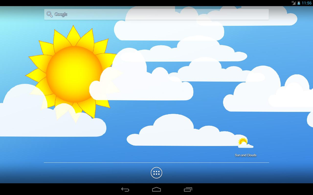 Sun and Clouds Free LWP Screenshot 4