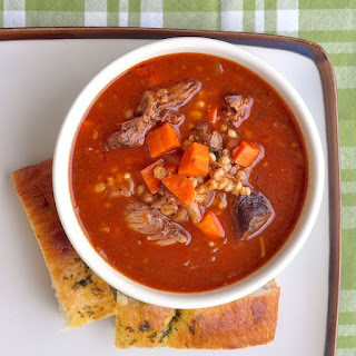Braised Shortrib Beef Barley Soup
