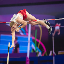 Vaulting for Gold by Ron Russell - Sports & Fitness Other Sports ( polevault, height, athletics, male, sport, vault, jump )