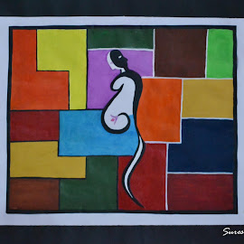 Modern art- Pregnant  by Suresh Kumar - Painting All Painting