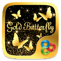 GoldButterflyGO Launcher Theme APK for Bluestacks