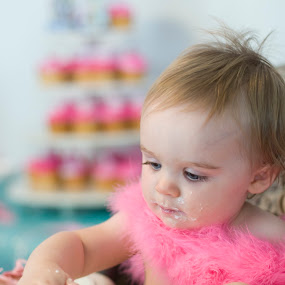 pretty in pink icing by Vicki Overman - Babies & Children Children Candids ( birthday party )