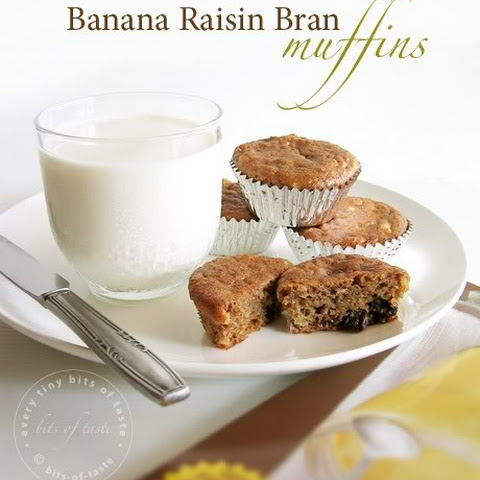 Banana Raisin Bran Muffins