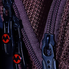 Batman Zippers by Wartono - - Artistic Objects Clothing & Accessories ( macro, macro photography, clothes, clothing, zipper, close up )