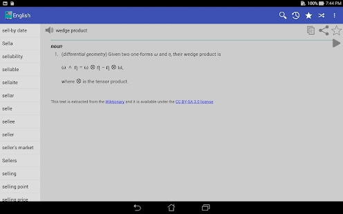 English Dictionary - Offline for Lollipop - Android 5.0