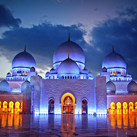 Grand Mosque, Abu Dhabi, United Arab Emirates by Andie Andros - Buildings & Architecture Other Exteriors ( the viewing deck, mosque, uae, abu dhabi )