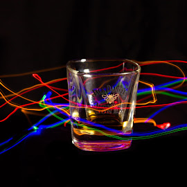 Jack Daniels Light Painting by Kieran Wynne - Food & Drink Alcohol & Drinks ( flash, light painting, whiskey, glass, jack daniels )