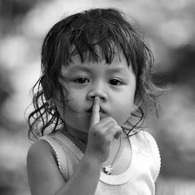 Don't speak by Bram Antonius.T - Babies & Children Child Portraits
