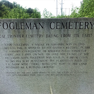 John Fogleman, a native of Virginia, was in this area in 1816, a witness to his sister's wedding in the St. Landry Courthouse. He married Polly Sandefur there Jan. 1, 1819. On Nov. 28, 1853, the ...