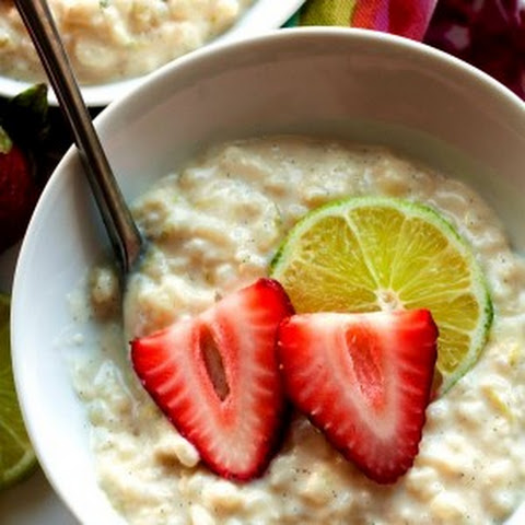 Zesty Lime Rice Pudding with Strawberries