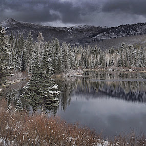First snow Silverlake, Utah by Jeannie Matteson - Landscapes Mountains & Hills