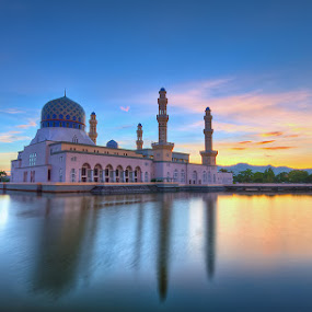 The Likas Mosque and a sunrise by Härris McHörrör - Buildings & Architecture Other Exteriors