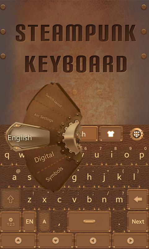 Steam-Punk-GO-Keyboard-Theme 8