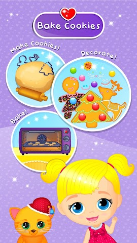 android Lily & Kitty Baby Christmas Screenshot 0