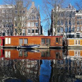 Amsterdam Canals by Dražen Komadina - City,  Street & Park  Street Scenes ( amsterdam canals )