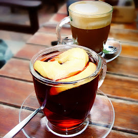 Red Wine Cider by Tricia Scott - Food & Drink Alcohol & Drinks ( wine, hot drink, cider, apple, drink, latte, cinnamon stick )