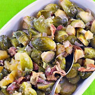 Roasted Brussels Sprouts with Fuji Apples