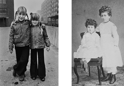 In the 1970's it had become common to have your own compact camera and many families collected pictures from birthdays and holidays in photo albums. It was unusual to be portrayed by a professional photographer. The von Hallwyl girls, on the other hand, were used to having their portraits taken at a photo studio, with fine clothes and props to create the right atmosphere.