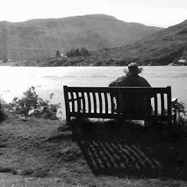 Relaxing watching the fisherman. by Maxine Ward - Uncategorized All Uncategorized