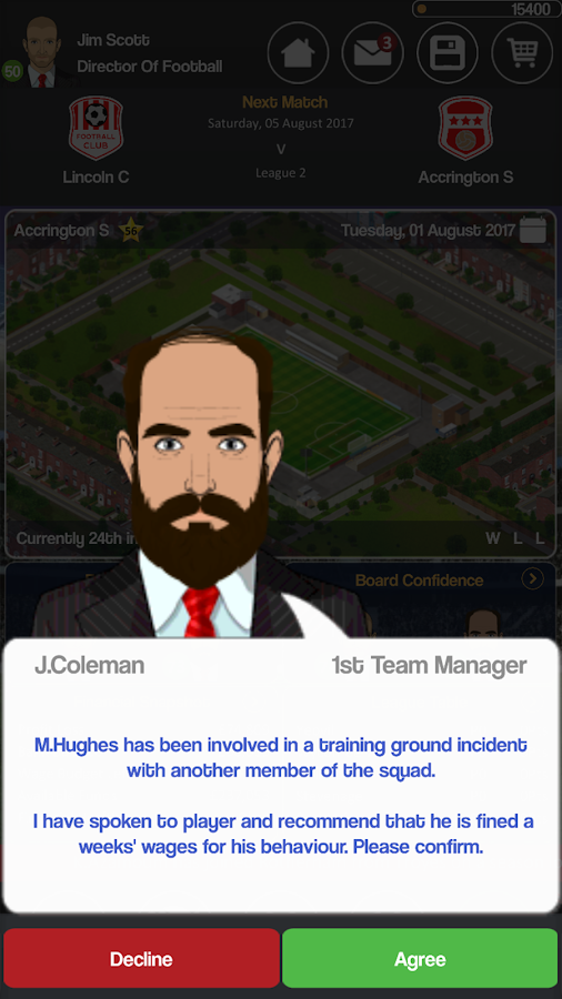 Club Soccer Director - Soccer Club Manager Sim Screenshot 7