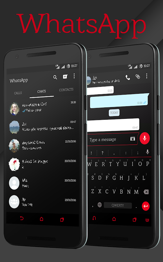 Sense Black/Red cm13 theme Screenshot 8