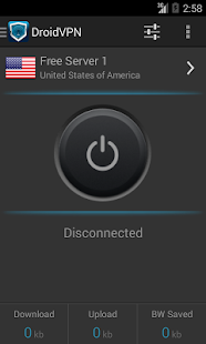 App DroidVPN - Android VPN version 2015 APK