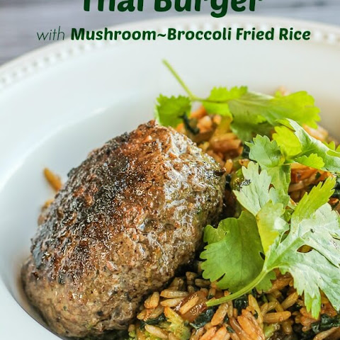 Mushroom-Broccoli Fried Rice