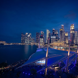 Marina Bay by Crispin Lee - City,  Street & Park  Skylines