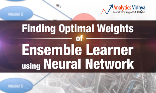 Finding Optimal Weights of Ensemble Learner using Neural Network