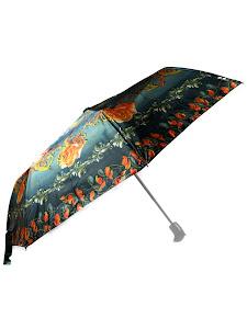 """Зонт """"Компакт L"""", 110см, черно-оранжевый"""