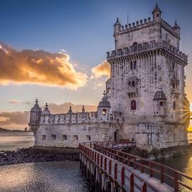 Belém Tower by Paulo Solipa - Buildings & Architecture Statues & Monuments ( tejo, belém, monument )