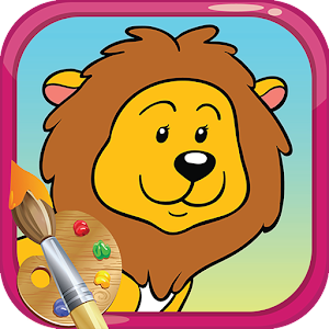 Animal jungle toddler coloring