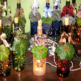 Wine Bottles by Marsha Sices - Food & Drink Alcohol & Drinks