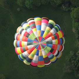 Overtaking by Cefn Goleu - Transportation Other ( flight, action, balloon, colours )