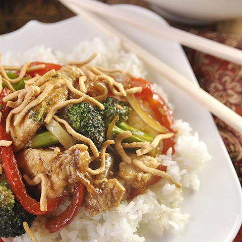 Red Pepper Chicken Stir Fry