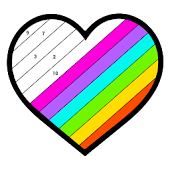 Adult Color By Number Book - Paint Number Coloring Icon