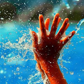 Splash by Hussin Mohd Nor - Abstract Fine Art ( splash, hands )